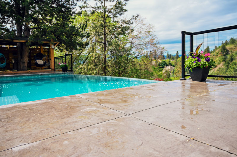 Joe & Sons - Sandblasting Kelowna - Pool Decks - Gallery Image