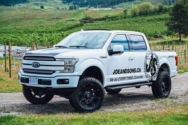 joe_and_sons_concrete_kelowna_pickup_truck_white